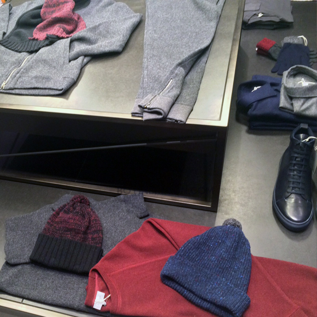 'Tis the season of gift-giving and all that jazz... There are some fantastic options from the accessories and wardrobe essentials. Matching bobble beanies and gloves to an amazing take on 'Sports Luxe' with a slim-fit wool tracksuit. Toasty!