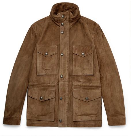 Burberry Suede Field Jacket
