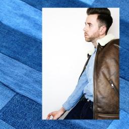 Double Denim Shearling Seventies Menswear Fashion Style Trend
