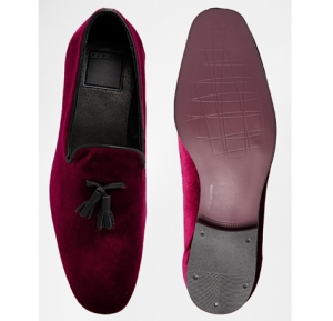 ASOS Velvet Tassel Slipper Loafers
