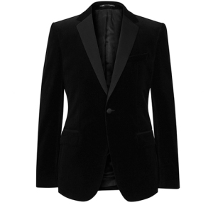 Reiss Mens Maximus Black Velvet Blazer