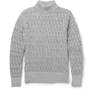 S.N.S S.N.S. HERNING Stark Slim-Fit Cable-Knit Virgin Wool Sweater