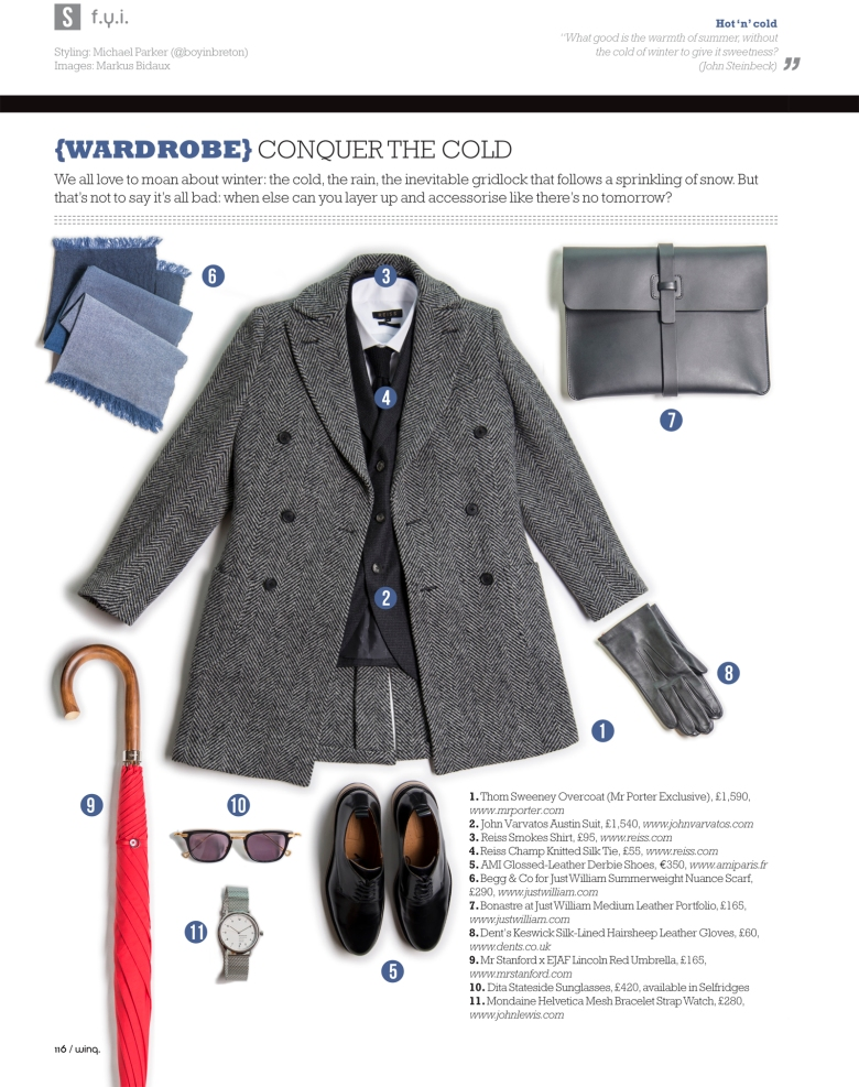 Winq Magazne Gay Wardrobe Style Fashion Thom Sweeney Reiss AMI William & Son Mr Stanford Mondaine