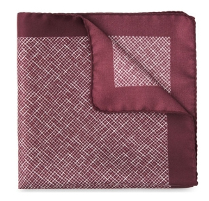 Whistles Menswear Cross Hatch Silk Pocket Square