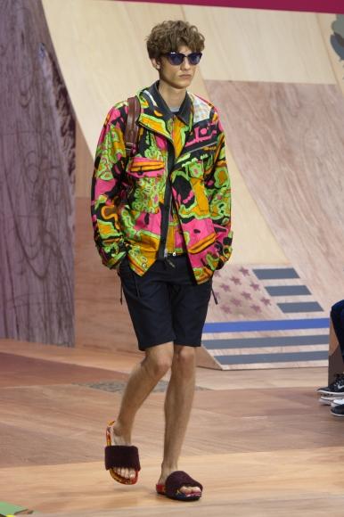 Coach x Harrods Pop Up - Look_02 Psychedelic Swirl Print Parka Jacket £750