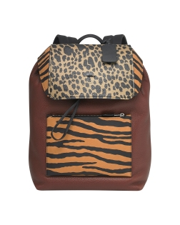 Coach x Harrods Pop Up - Printed Small Pebbled Backpack in Orange Tiger £650