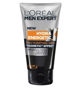 LOreal L'Oreal Men Expert Hydra Energetic Purifying Magnetic Charcoal face wash Skincare Mens Skin Male Grooming Boy in Breton Lifestyle Fashion Blogger
