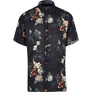 RIVER ISLAND KOI ORIENT ORIENTAL SHIRT SHORT SLEEVE MENSWEAR STYLE FASHION TREND SS216 SPRING SUMMER 2016 BLOG BLOGGER BOYINBRETON BOY IN BRETON