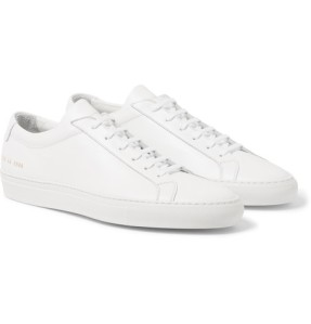 Common Projects White Monochrome Scandi Sleek Subtle leather trainers sneakers