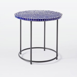 Add a little art to your outdoor space with the Mosaic Tiled Side Table. Its ceramic tiles are carefully inlaid by hand onto an antiqued bronze metal base, for a unique look both indoors and out. West Elm WestElm Interiors Interior Greek Grecian Lifestyle blog blogger ideas inspiration boyinbreton boy in breton
