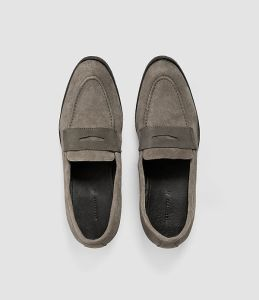 allsaints all saints penny loafer loafers mens footwear shoes suede leather style fashion blog blogger
