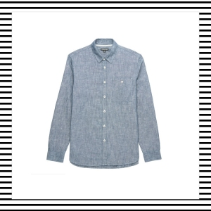 Whistles Chambray Linen Blue Slub Slubby Shirt Menswear Mens Blog Top Lifestyle Blogger Bloggers Boy in Breton