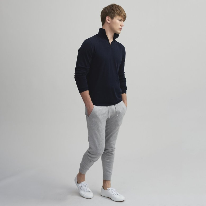 The White Company Mens Menswear Clothes Clothing Fashion Luxury Christmas Xmas Present Gifts Gifting Cashmere Wool Socks Cardigan Robe Dressing Gown Blog Blogger Lifestyle Mens Boyinbreton.com Boyinbreton Boy in Breton Jersey Loopback Zip-thru Sweatshirt Joggers Chunky Cashmere Cardigan Joggers Merino