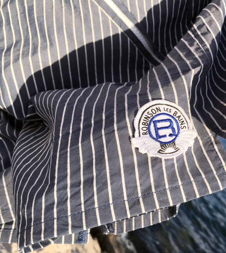 Robinson Les Bains Oxford Stripe Swimming Swim Board Shorts French France Style Outfit Blog Blogger Male Mens Menswear Style Fashion Boyinbreton Boy in breton