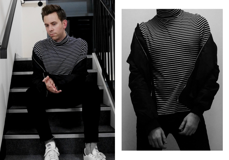 Manière De Voir Maniere Trends Style Mens Menswear Fashion Online Bomber Jacket Stripes Jeans Stan Smiths Adidas Outfit OOTD outfit of the day lookbook look blog blogger blogging top best men how to wear boyinbreton boy in breton boyinbreton.com