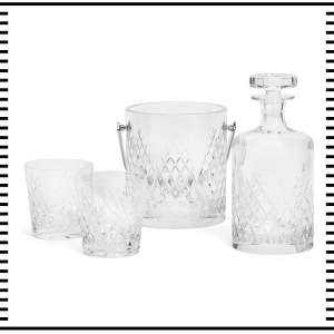 Soho House Home Deluxe Decanter Ice Bucket Glasses Whiskey Cocktails Barwell Crystal gift guide for him christmas guide presents gifts ideas 2016 mens menswear men's lifestyle fashion technology best top blog blogger blogging boyinbreton.com boy in breton