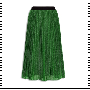 NEXT Sparkle Pleated Skirt Green Christmas gift guide for her accessories fashion clothes clothing gift guide for him christmas guide presents gifts ideas 2016 mens menswear men's lifestyle fashion technology best top blog blogger blogging boyinbreton.com boy in bretonE