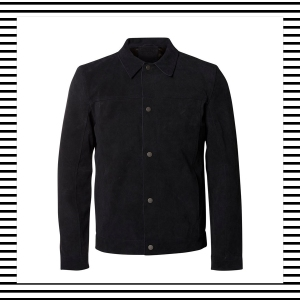 Suede Jacket Bomber Harrington Shirt men Mens Men's Fashion Style Autumn Winter How to wear Top Picks Blog blogger blogging menswear boyinbreton boy in breton Selected Homme