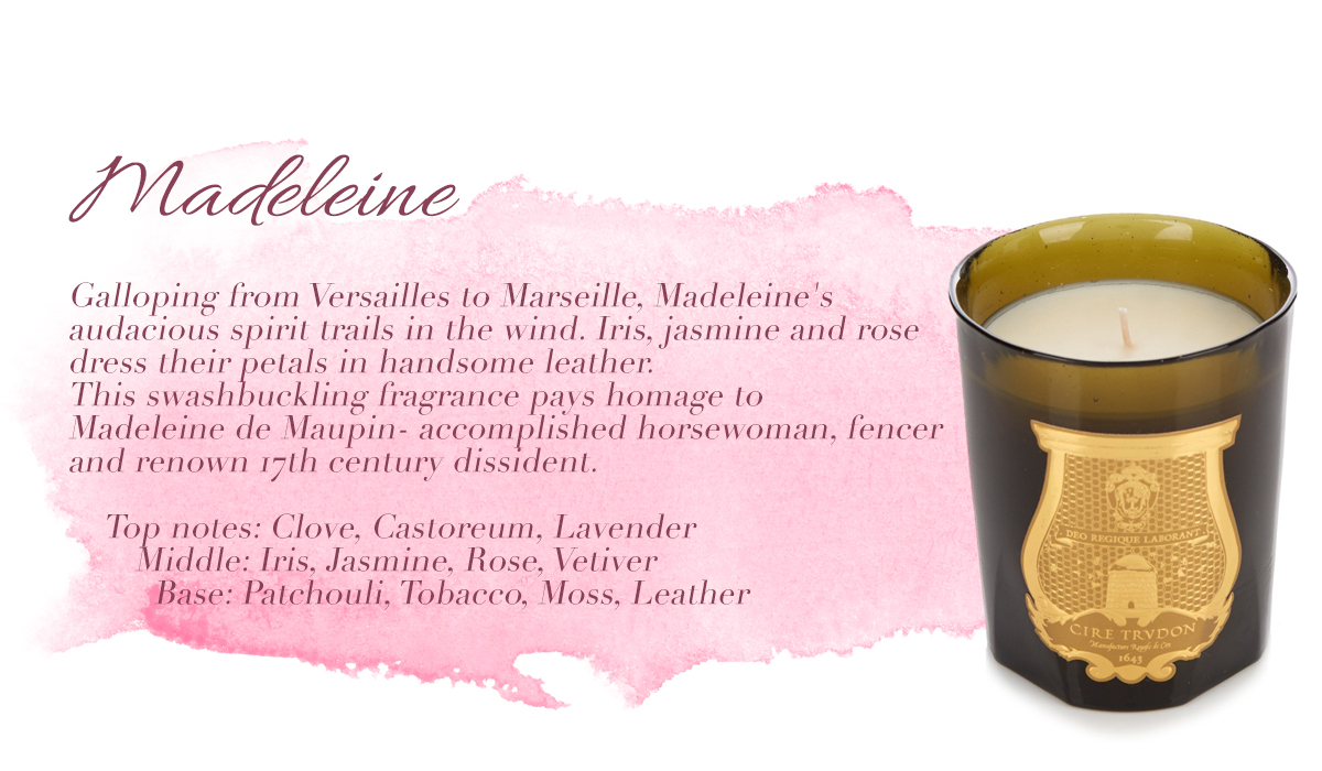 Madeleine Cire Trudon Candle Fragrance Ambience Scented Luxury Luxurious Masculine male favourites lifestyle home interiors blog blogger male mens boyinbreton boy in breton