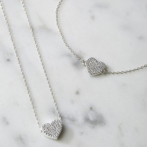 The White Company Heart Silver necklace gifts for her valentine's day