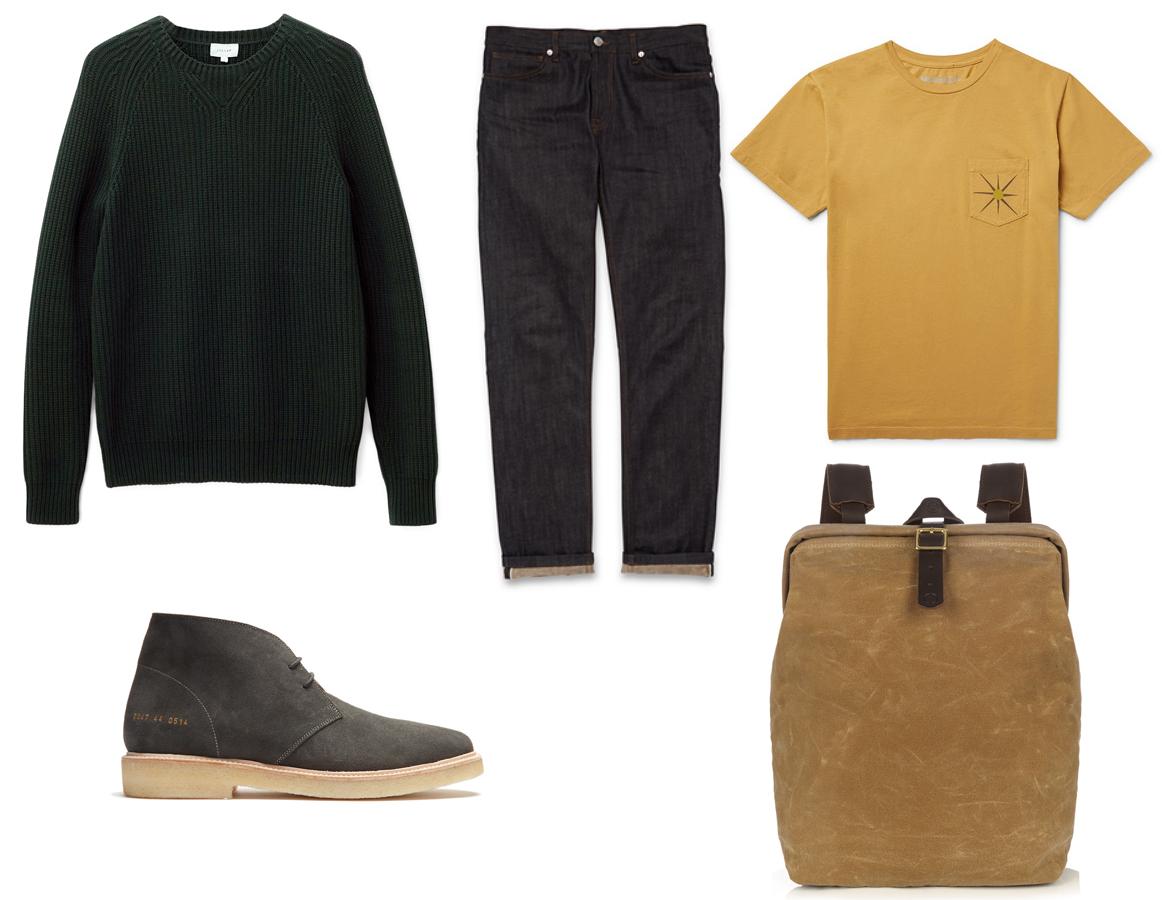 Reiss Green Mr Porter Matches Pantone 2017 How to wear style men's fashion wardrobe blog blogger Boyinbreton.com boy in breton Whistles selvedge jeans Jigsaw waffle knit