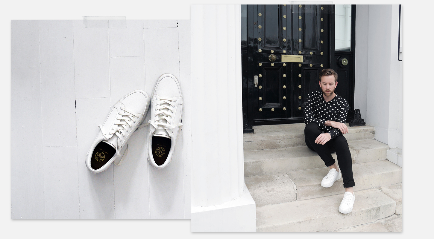Kurt Geiger KG Sneakers Trainers White Minimal Men's Style Fashion Blog Blogger Menswear How to wear Summer 2017 SS17 trends boyinbreton.com boy in breton
