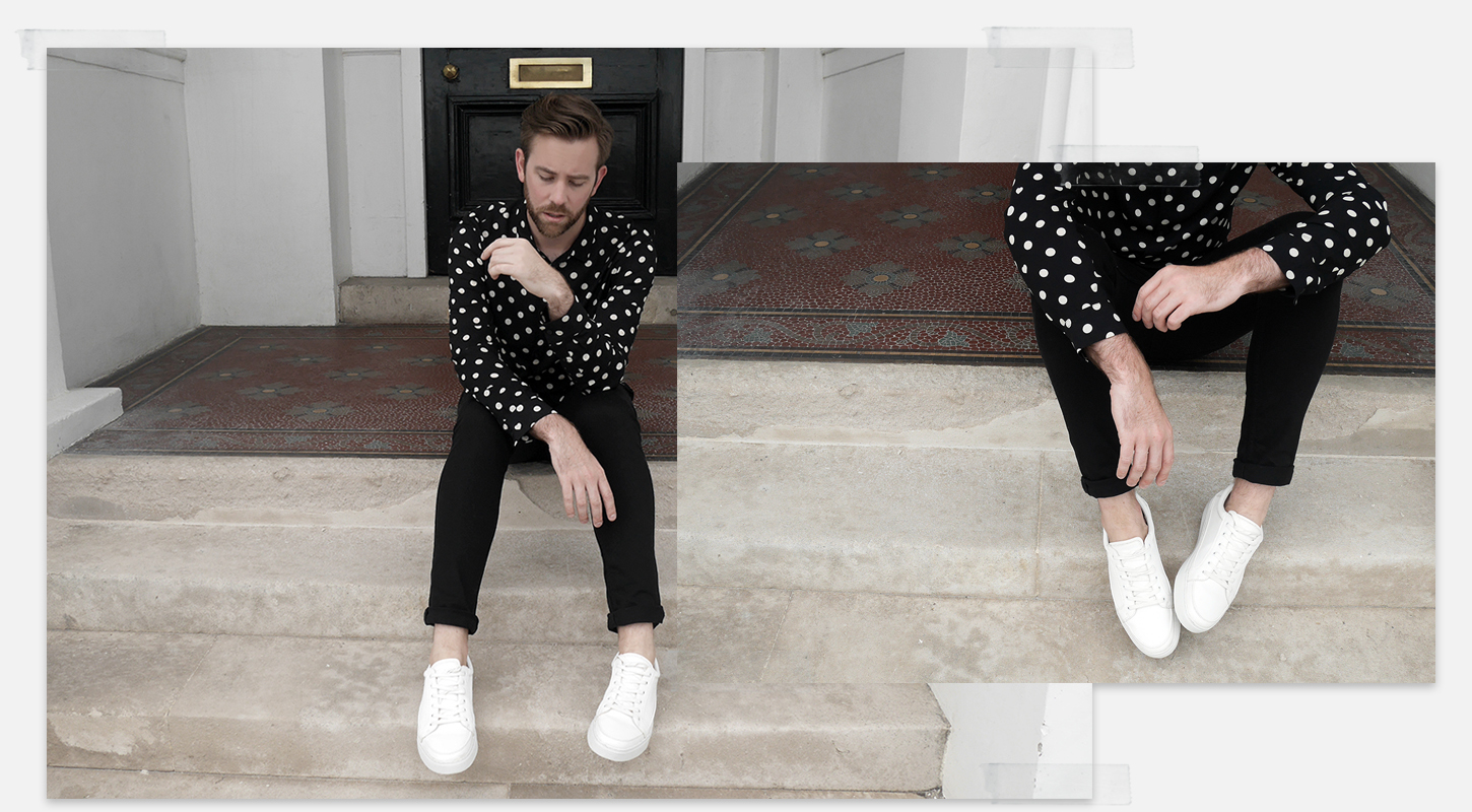Kurt Geiger KG Sneakers Trainers White Minimal Men's Style Fashion Blog Blogger Menswear How to wear Summer 2017 SS17 trends boyinbreton.com boy in breton ALLSAINTS