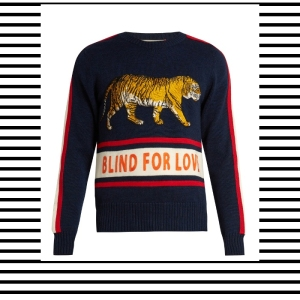 Gucci Blind for love tiger logo slogan Sweater Jumper Knitwear Trend AW17 Mens Menswear how to wear what to wear style fashion blog blogger lifestyle boyinbreton.com boy in breton boyinbreton