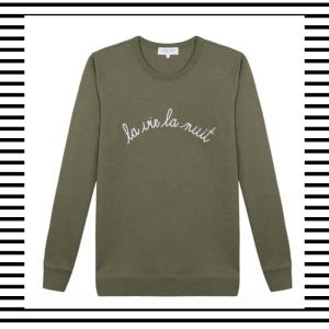 Maison Labiche La Vie La Nuit embroidery embroidered logo slogan Sweater Jumper Knitwear Trend AW17 Mens Menswear how to wear what to wear style fashion blog blogger lifestyle boyinbreton.com boy in breton boyinbreton