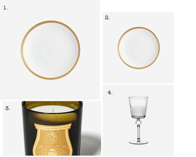 Cire Trudon candle scent fragrance scenting Christofle Eden Marcel Wanders White Wine Glass Soie Tressée L'Objet Dinner Plate Gold Trim BONADEA Table tablescape Christmas setting laying inspiration ideas festive entertaining blog blogger lifestyle boyinbreton.com boy in breton