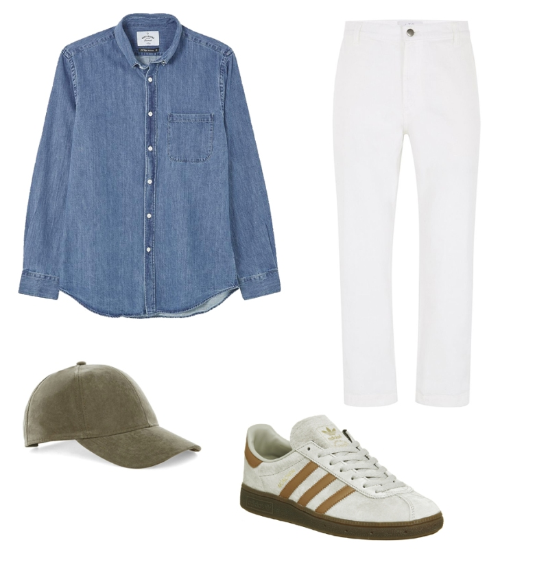 Denim shirt chambray adidas munchen sesame topman ltd hat cap how to wear ways style stylish fashion menswear lifestyle blog blogger boyinbreton boyinbreton.com